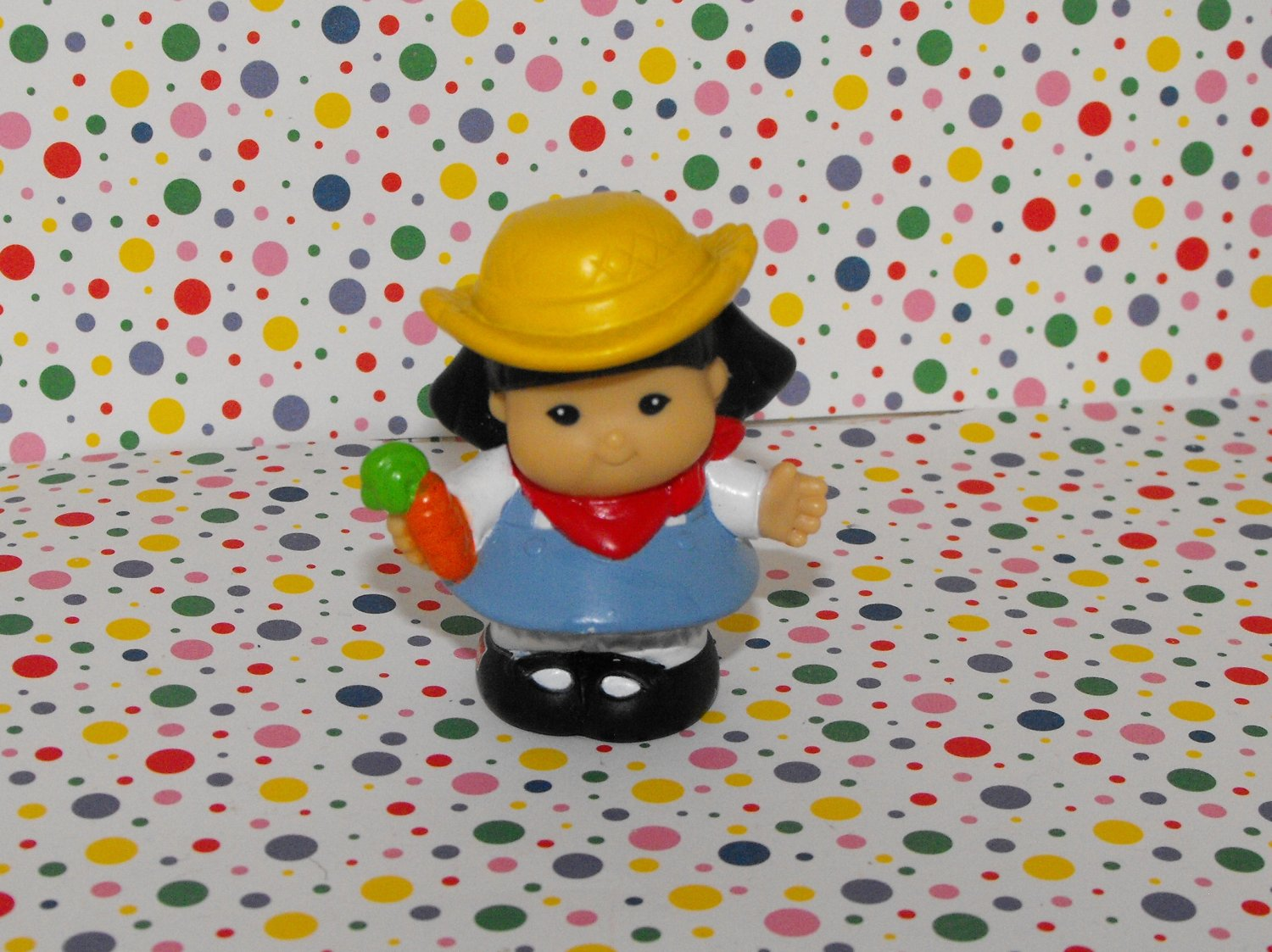 *SOLD~Fisher Price Little People Farmer Sonya Lee Carrot Part