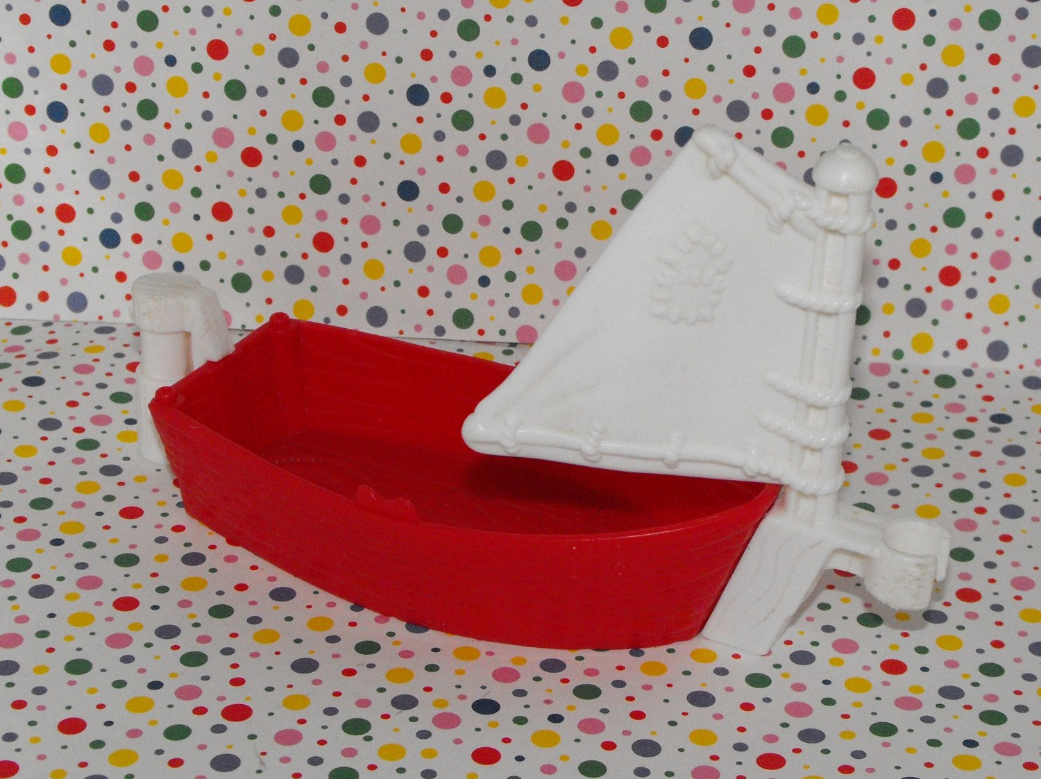 *SOLD~Awaiting Feedback~Fisher Price Little People Lil' Sea Skiff Sailboat Part
