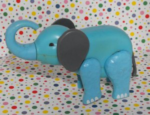 Vintage Fisher Price Little People Circus Zoo Train Elephant