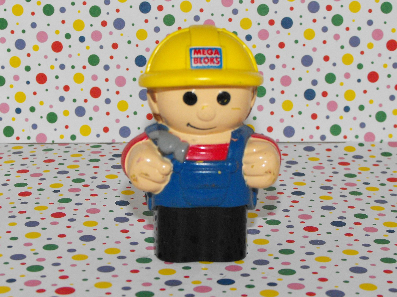*SOLD~Awaiting Feedback~MegaBlocks Mega Bloks Construction Site Worker Figure Part