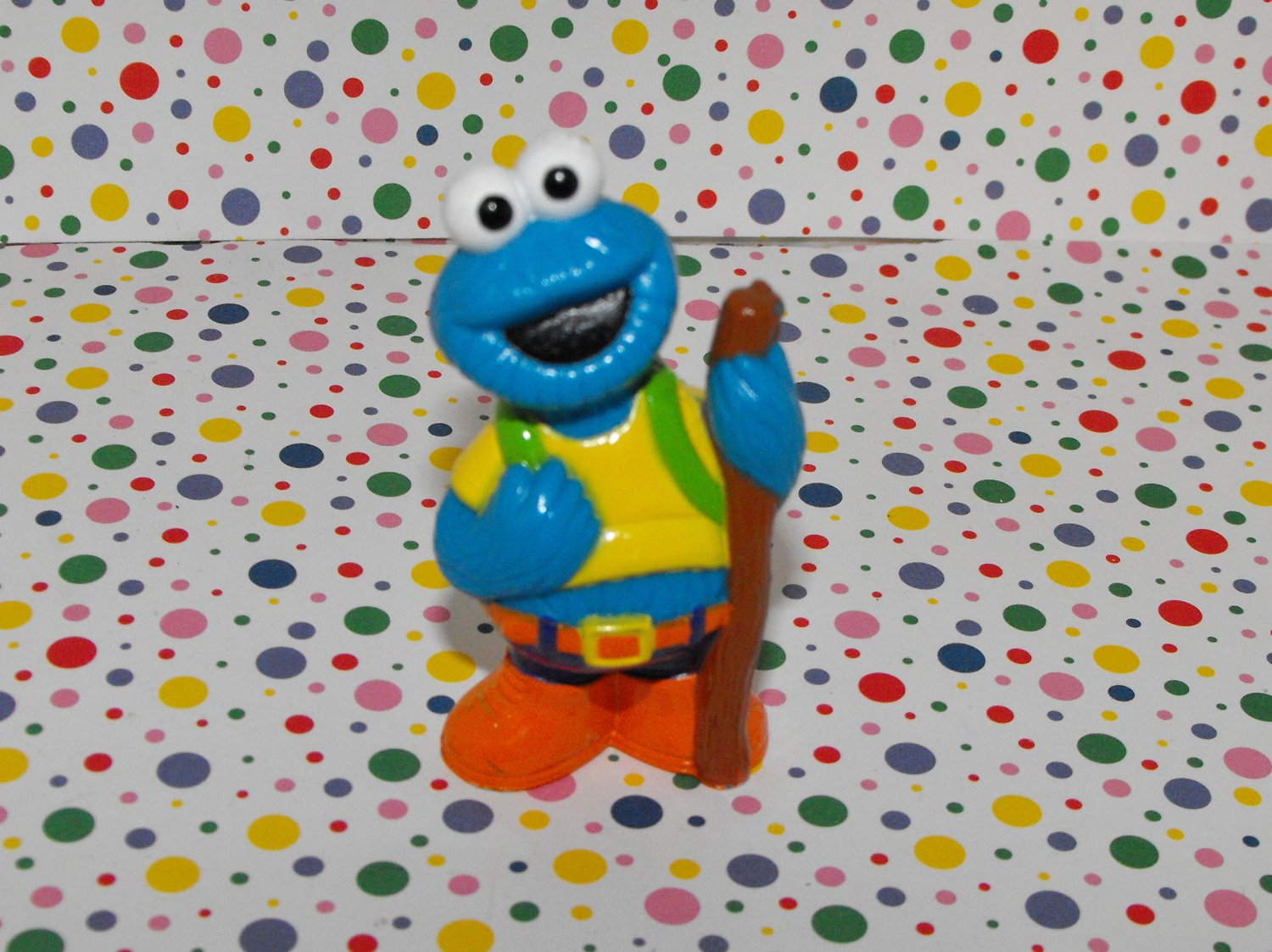 2*SOLD~Tyco Sesame Street Camping Cookie Monster Figure