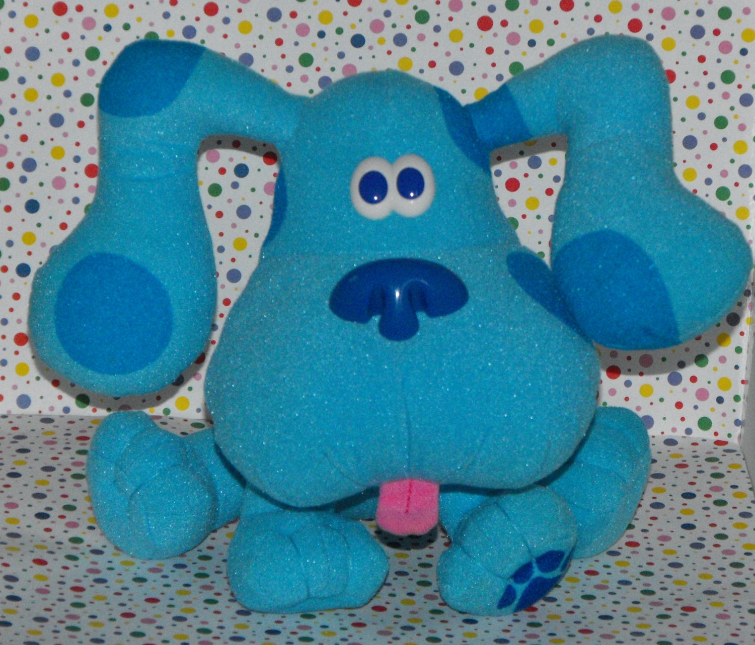 """*SOLD~1997 Blues Blue's Clues 7"""" Pose a Blue Plush by TYCO"""