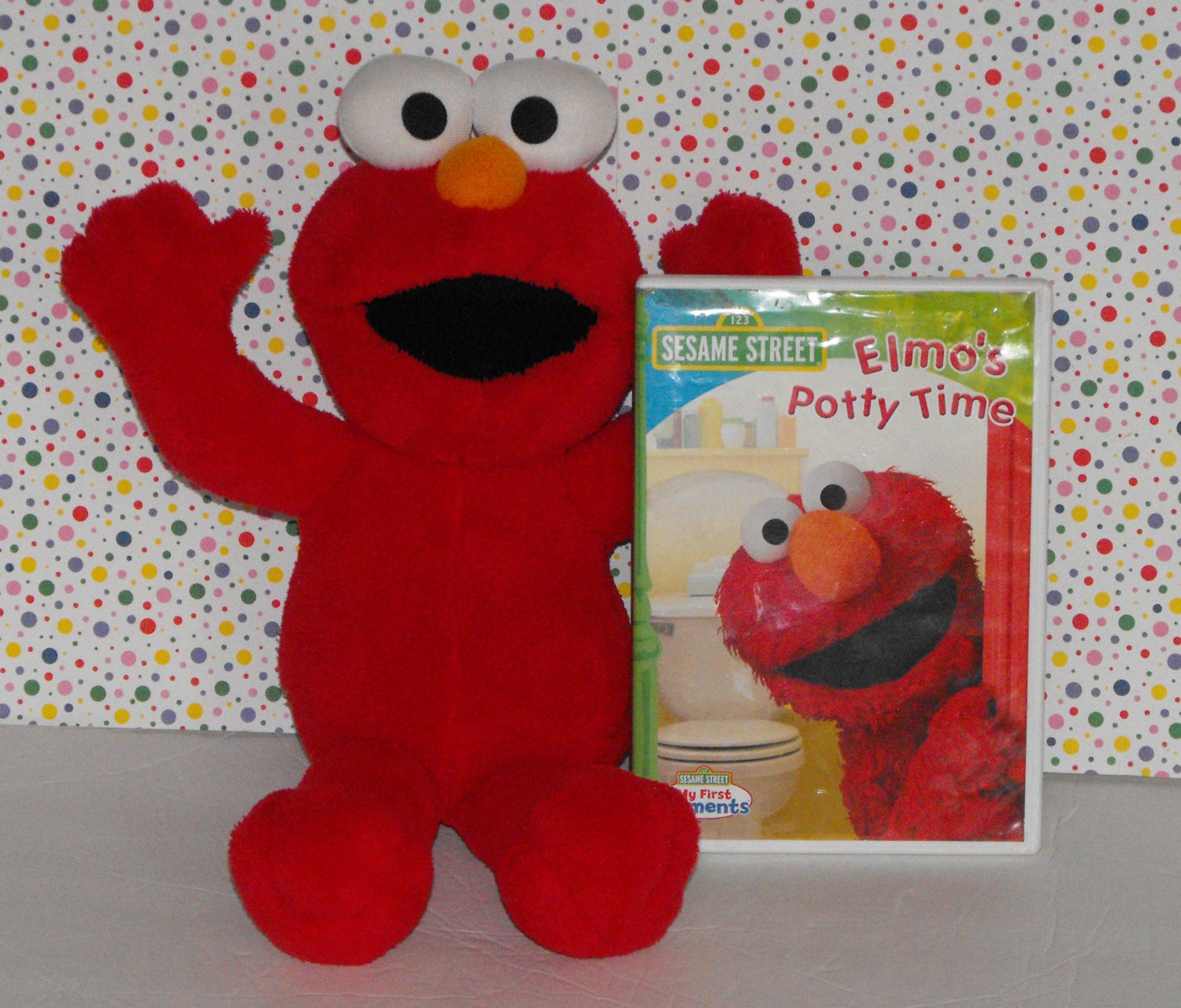 *SOLD*Potty Time Elmo Doll and Potty Time DVD