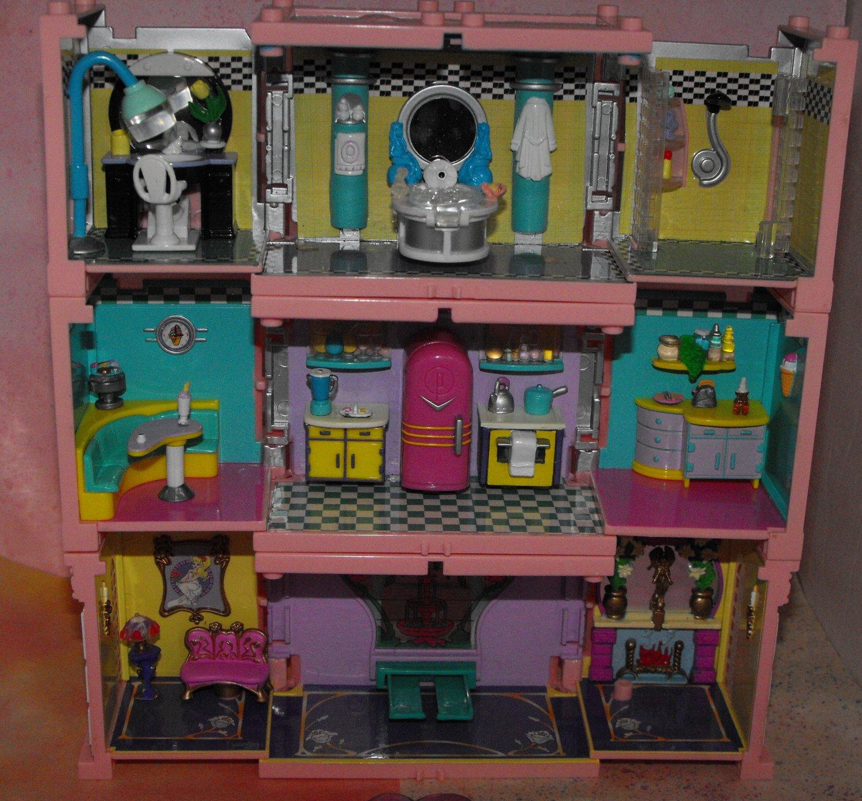 4*SOLD~Blue Bird Polly Pocket Dream Builders Mansion Parts
