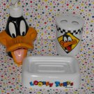 Warner Bros. Looney Tunes Daffy Duck Bathroom Decor Lot