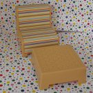 Hannah Montana Malibu Beach House Furniture Chair and Ottoman Set