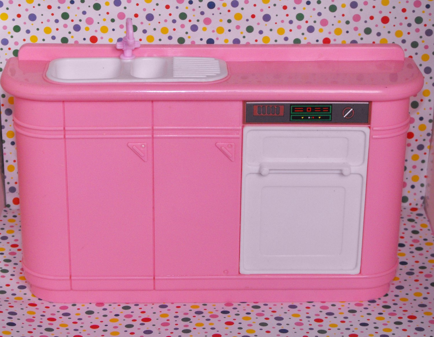 Vintage Barbie Pink Kitchen Counter Dishwasher Made by Arco