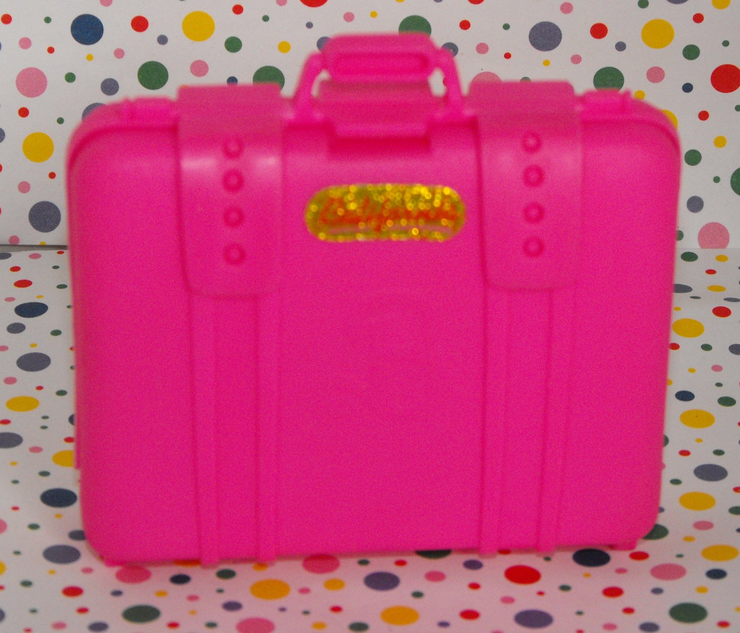 Barbie Large Bright Pink Suitcase~Cali Bound!