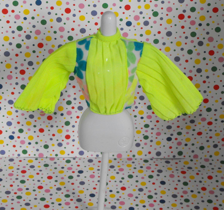 Vintage Barbie Peasant MOD Retro Blouse Shirt