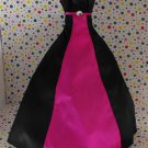 Barbie Pink Label Black and Fuchsia Pink Gown Dress