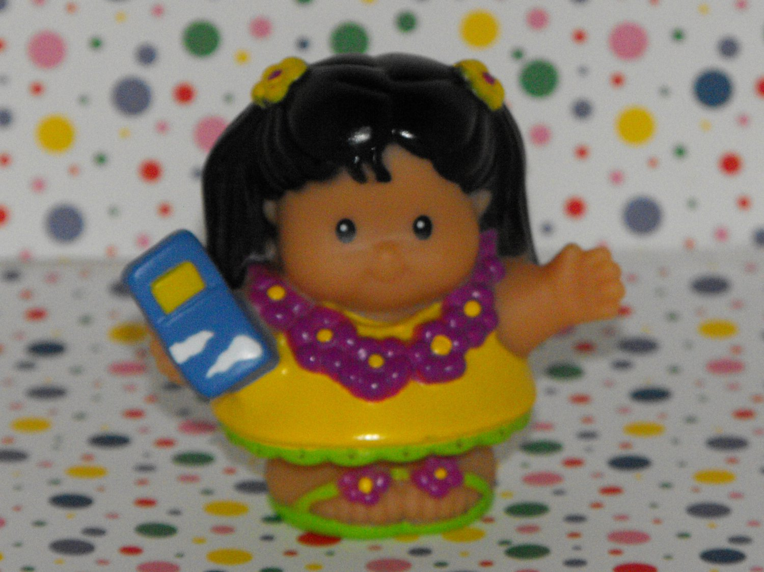 Fisher Price Little People Airplane Mia Hawaiian Lei Girl Hula