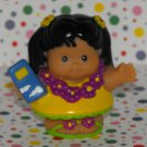 Fisher Price Little People Airplane Hawaiian Lei Girl Hula