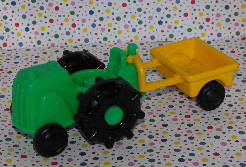 "Fisher Price Little People ""John Deere"" Green Farm Tractor"