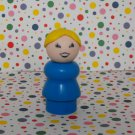 Vintage Fisher Price Little People Blue Blonde Mom