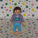 Playmobil Lego Minifigure Family Girl in Fish Shirt Woman Parts