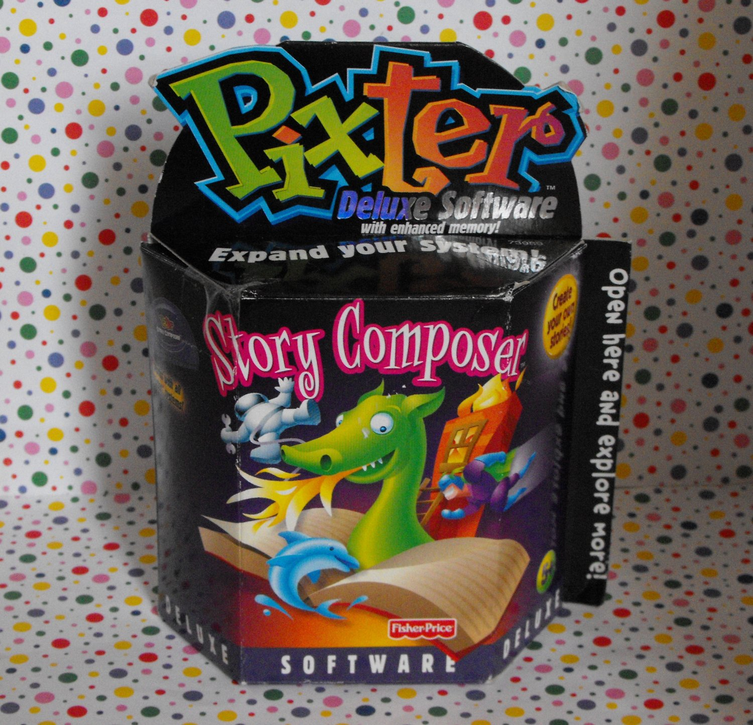 Fisher Price Pixter Handheld Story Composer Software Game