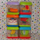 Fisher Price Peek A Blocks Gobble n' Go Hippo Food Block Parts Lot