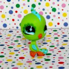 Littlest Pet Shop #472 Green Parakeet~Pet Nook