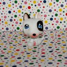 Littlest Pet Shop White & Black Bull Terrier Dog~Paws Off Diary