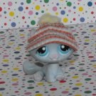 Littlest Pet Shop #177 White and Gray Tabby Kitty Cat