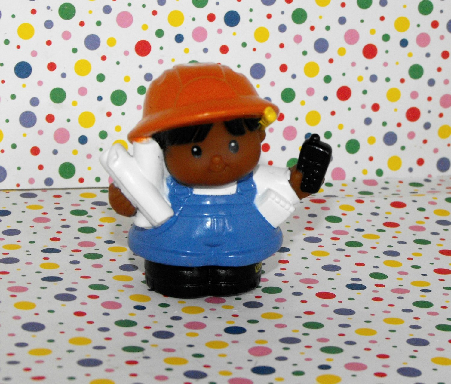 Fisher Price Little People Hispanic Construction Worker Girl