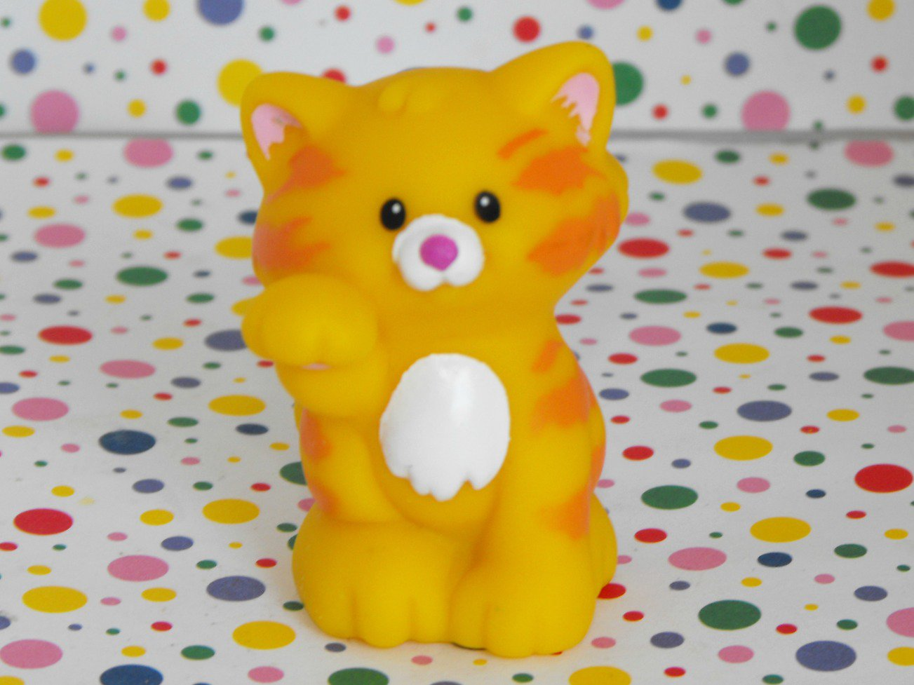 *4/16*SOLD~ Fisher Price Little People Matchin' Keys Yellow Striped Cat Part