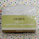 Carter's White Easy Fit Bassinet Sheet Set of 2