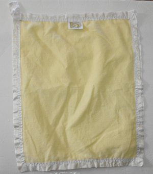 Comfort Silkie Yellow White Satin Security Baby Blanket Lovey