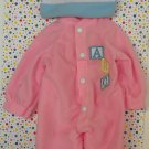 Baby Doll Clothes Pink Romper with Hat Outfit