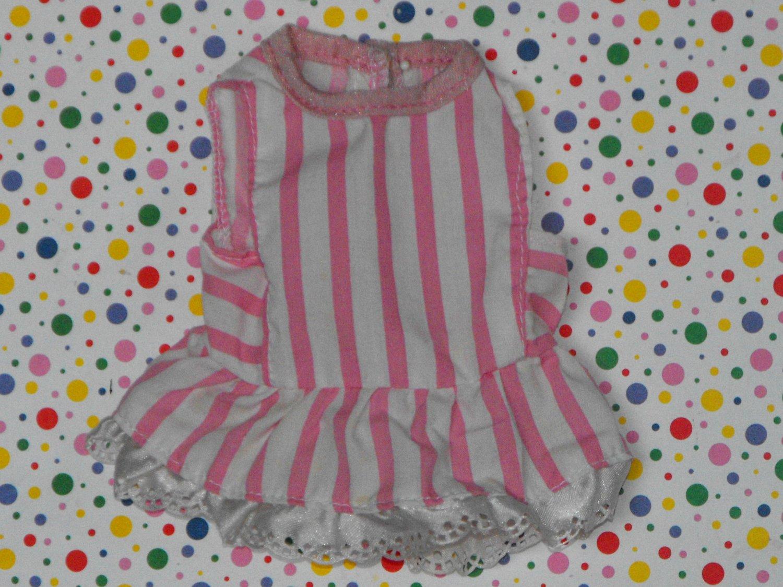 Mattel Little Miss Dress Up 1988 Pink Striped Dress