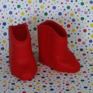 Vintage Kit and Kaboodle Doll Shoes Red Boots