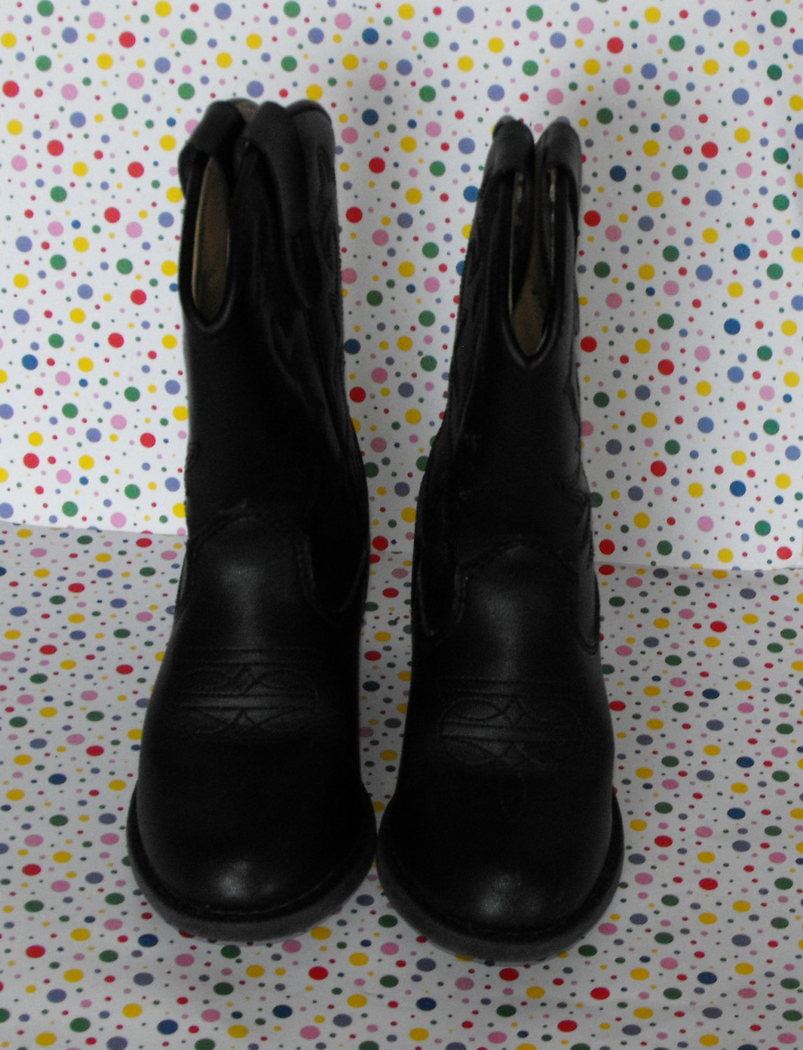 *7/13*SOLD~Toddler Black Cowboy Boots Size 10 Costume Faded Glory