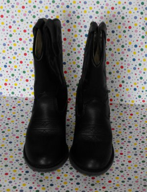 Faded Glory Black Cowboy Boots Toddler Size 10 Costume