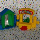 Fisher Price Little People Surprise Sounds Funpark Ticket Booth Mirror Parts