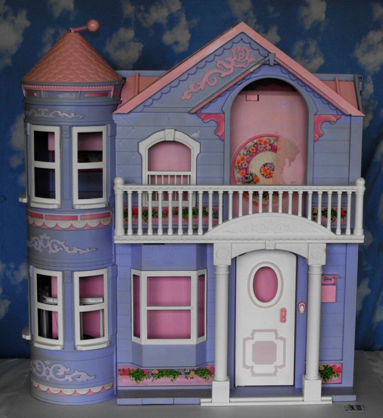 *12/13*SOLD~Barbie Dream House Dollhouse 2000~Purple ~Working Elevator