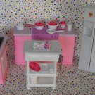 Barbie Kitchen Playset~LOADED With Accessories! Dollhouse Furniture