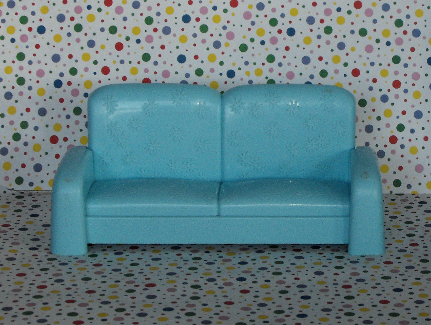 *6/13~SOLD~Barbie Talking Townhouse Folding Futon Couch Dollhouse Furniture