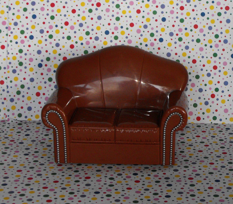 *10/13*SOLD~Bratz Ski Lodge Barbie Dollhouse Couch Livingroom Dollhouse Furniture