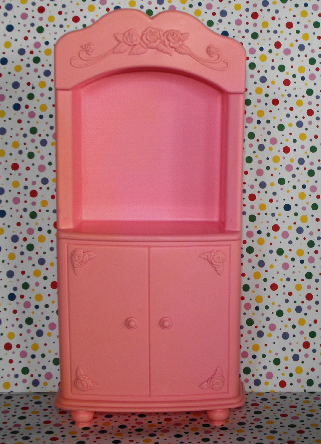 Barbie Bedroom Playset TV Ar moire Cabinet Dollhouse Furniture