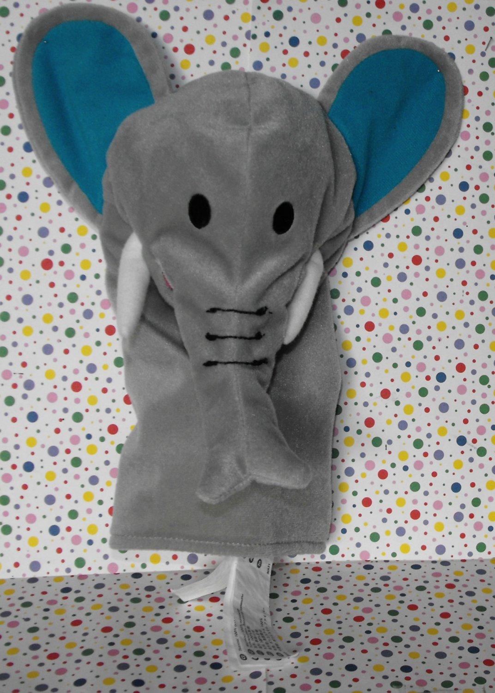 *12/15*SOLD~Ikea Elephant Hand Puppet Klappar Vild