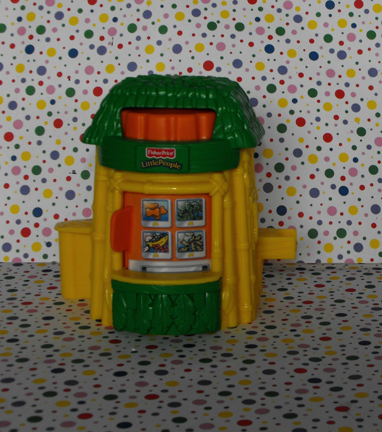 Fisher Price Little People Baby Zoo Animals Food Hut Stand Booth Part