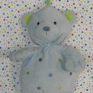 Carter's Blue Polka Dot Bear Pull String Musical Plush Crib Toy Lovey
