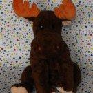 Baby Ty Beanie Moose Lumpy Tylux Pluffie Toy Lovey