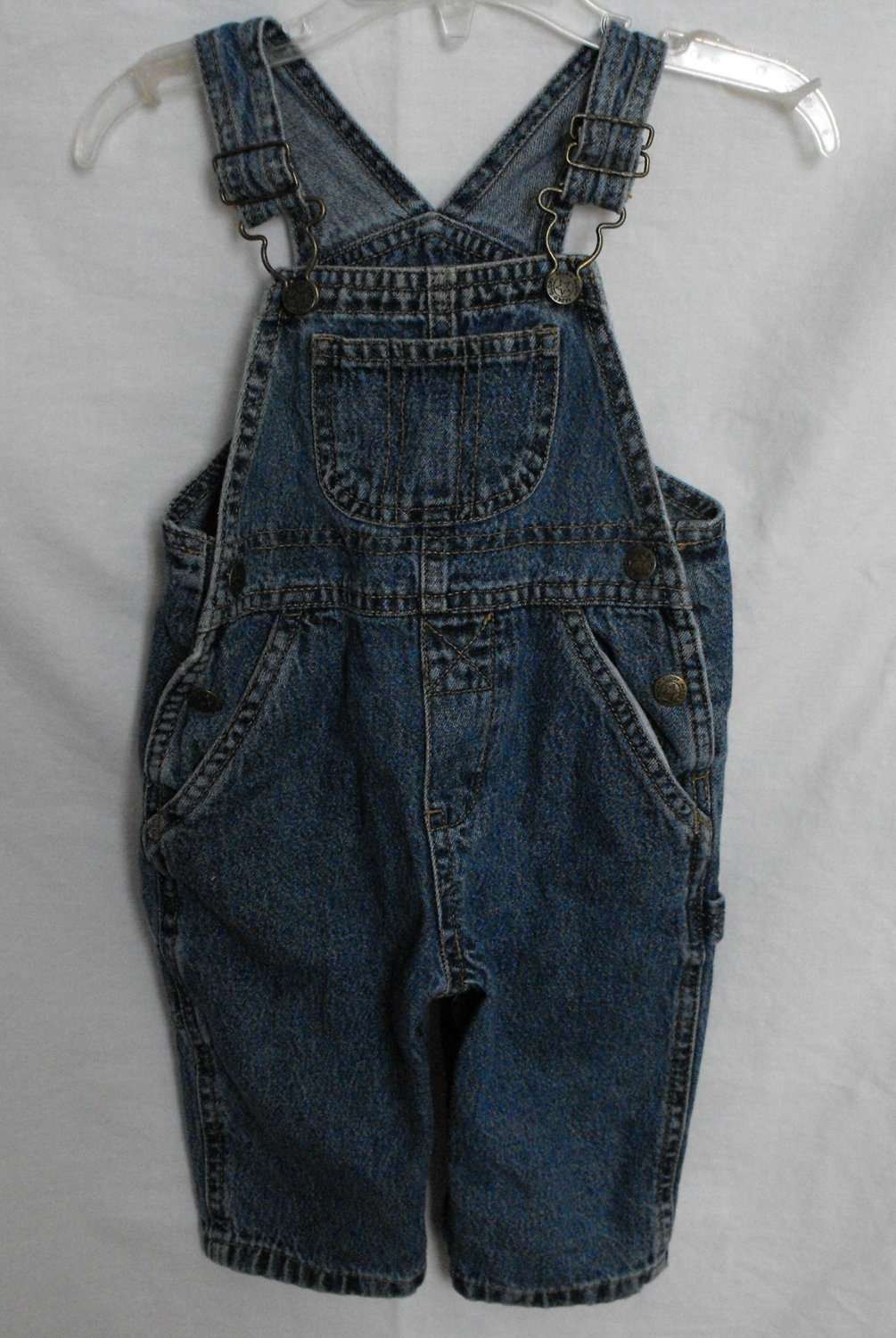 *1/15*SOLD~ Faded Glory Baby Boys 6-9 Months Jeans Overalls