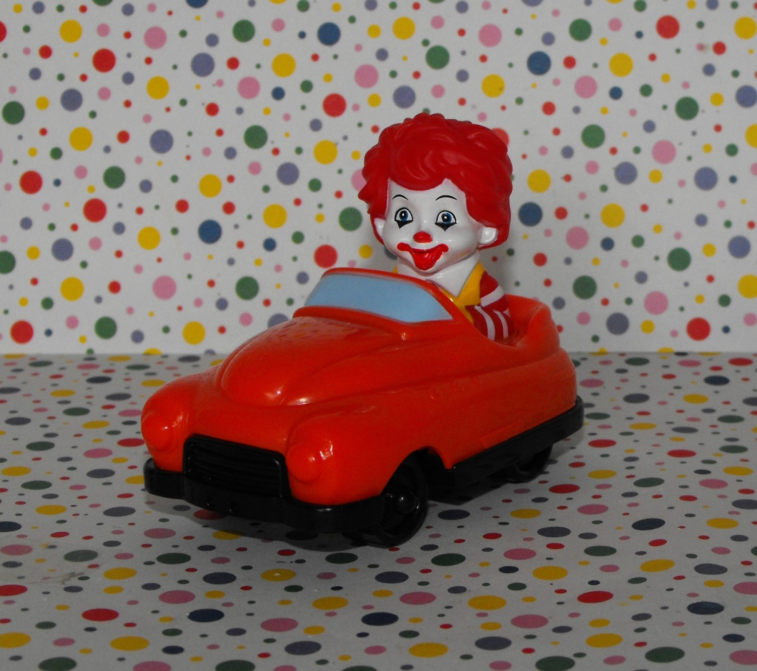 McDonald's Ronald McDonald Red Car Under 3 Happy Meal Toy