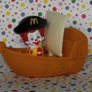 McDonald's Ronald McDonald Pirate Ship Float Ronald Under 3 Happy Meal Toy