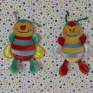 Baby Gund Buggie Gigglers Laughing Bumble Bees Lot