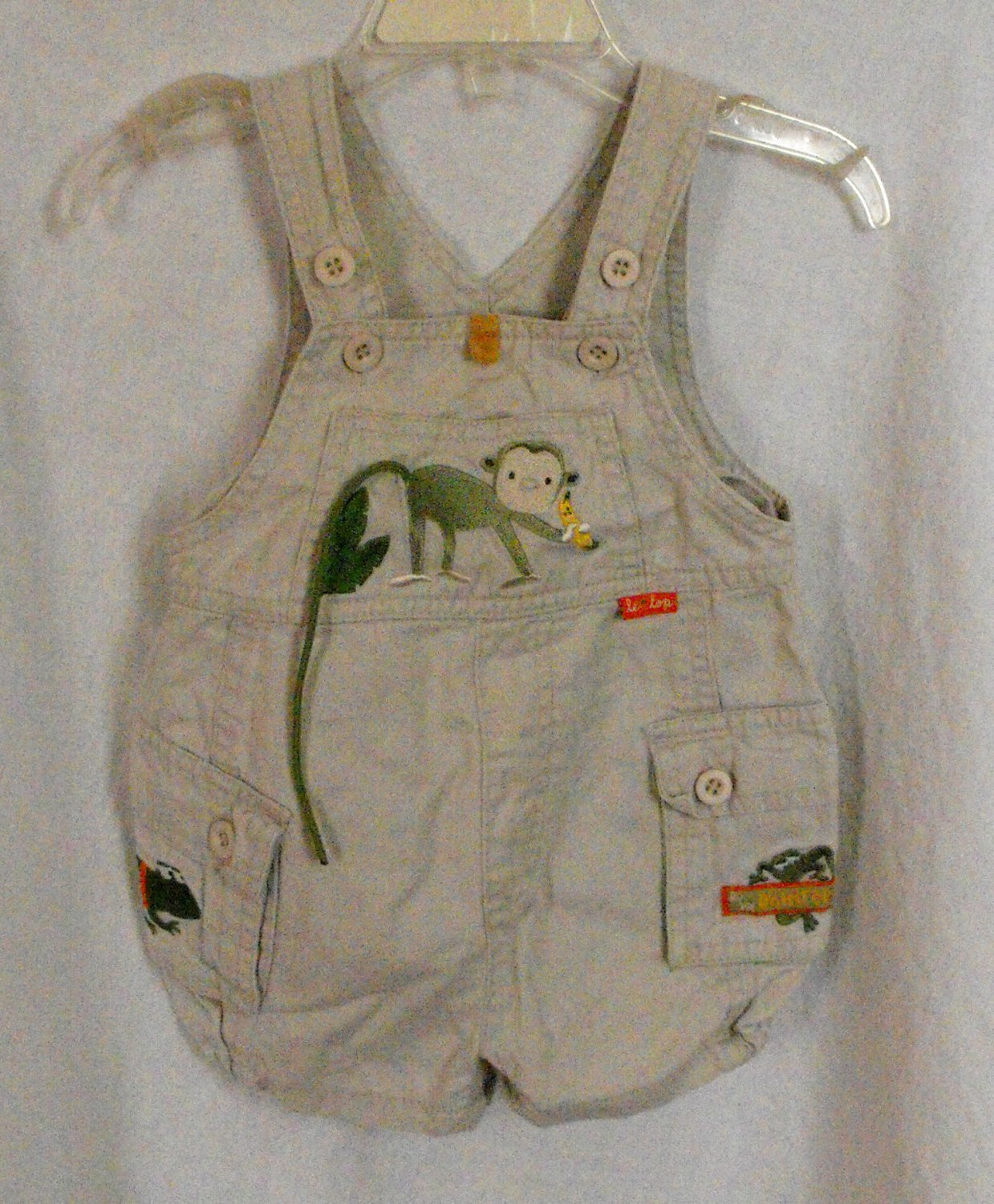 Le Togs Baby Boy 3 Month Romper Overall Bibs