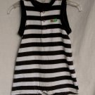 Carter's Baby Boys 9 month Brown Striped Tank Romper