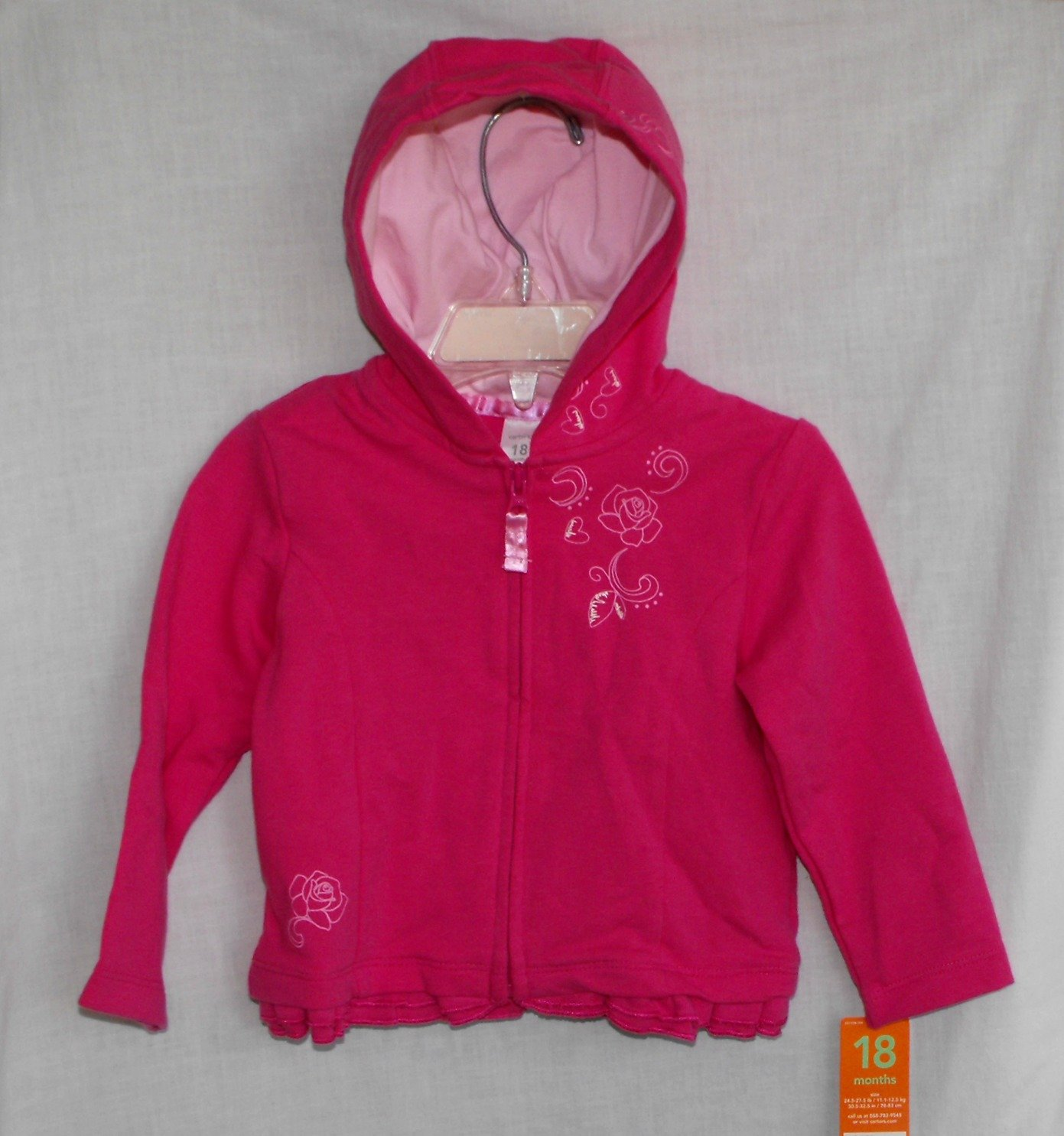 Carter's Baby Girls 18 Months Hot Pink Jacket bnwt!